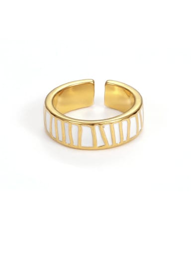 (pre sale, (non adjustable) Brass Enamel Irregular Minimalist Band Ring