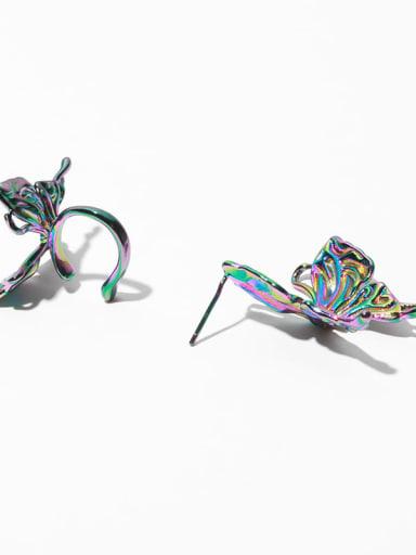 Earrings (pair) Brass Butterfly Vintage Stud Earring