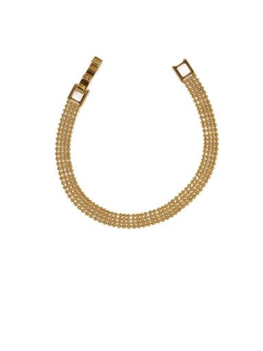 Brass Bead Geometric Minimalist Beaded Bracelet