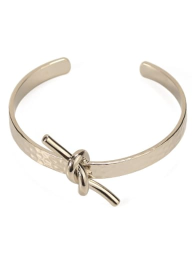 4 Brass Hollow Geometric Minimalist Cuff Bangle