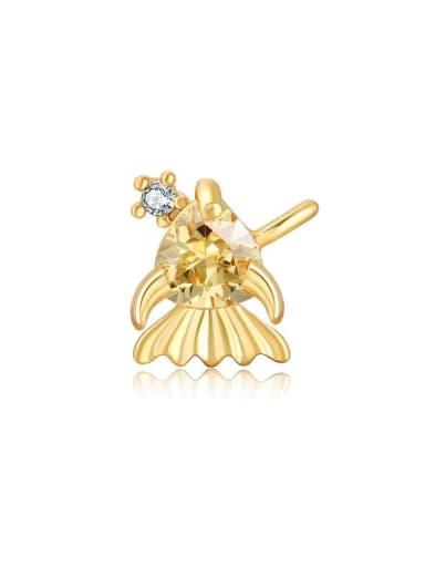 Little goldfish Brass Cubic Zirconia Multi Color Irregular Cute Diy Pendant