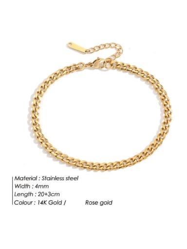 golden Stainless steel  Irregular Hip Hop Hollow Chain Anklet