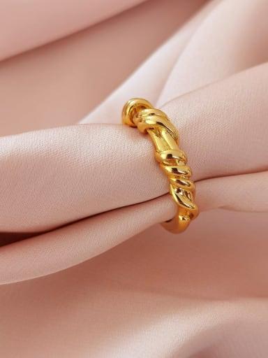 Brass Geometric Vintage Band Ring