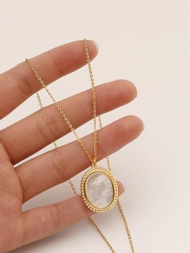 Brass Shell Geometric Minimalist Pendant Necklace