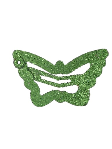 green(1 Pack = 100 Pcs) Alloy Multi Color Cute Butterfly  Hair Barrette