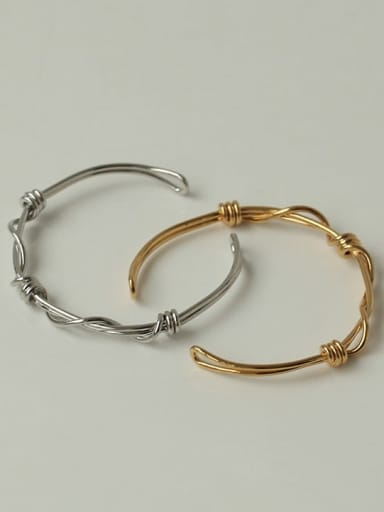 Brass Hollow Geometric Hip Hop Cuff Bangle