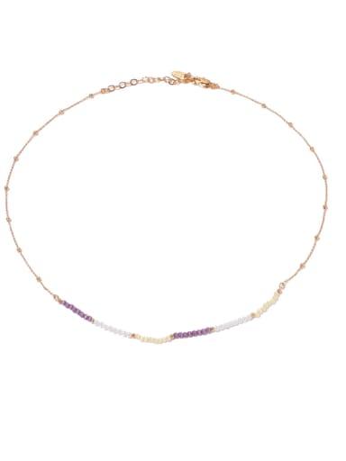 Brass Cats Eye Geometric Hip Hop Necklace