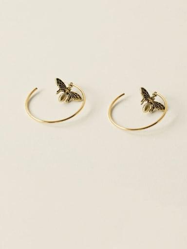 Alloy Butterfly Vintage Huggie Earring