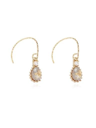Copper Opal Water Drop Dainty Hook Earring