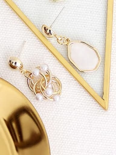 Off white Copper Resin Geometric Bohemia Drop Trend Korean Fashion Earring