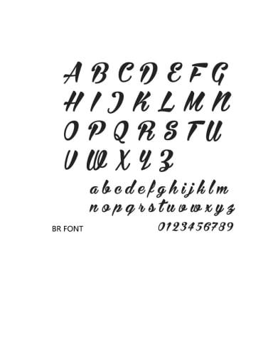 Br font Stainless steel Letter Minimalist  Name custom name ring