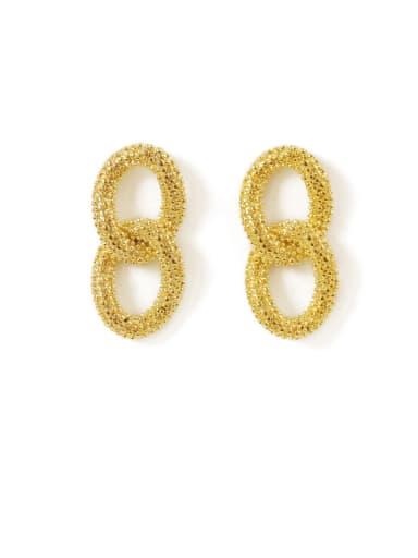 Brass Hollow Geometric Vintage Drop Earring