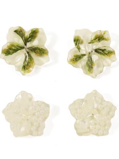 Alloy Enamel Flower Cute Stud Earring