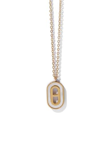 Brass Shell Geometric Vintage Long Strand Necklace