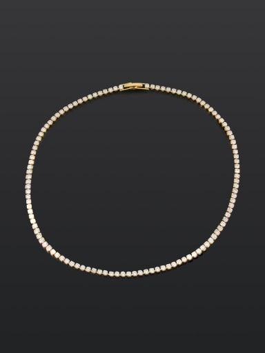 33cm Necklace Brass Cubic Zirconia Star Dainty Necklace