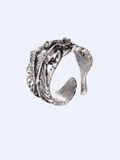 Alloy Rhinestone Irregular Vintage Band Ring