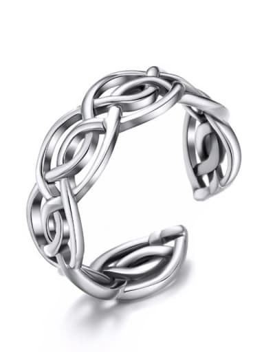 925 Sterling Silver Geometric Band Ring