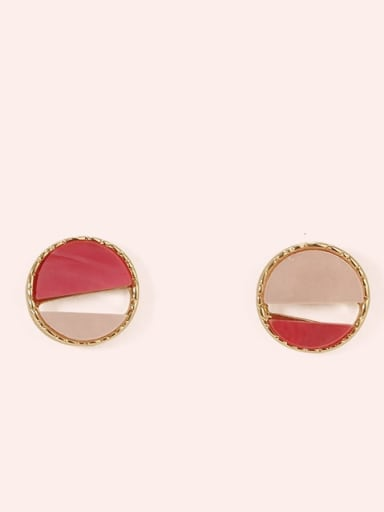 Section 3 Alloy Enamel  Cute Round Contrasting Color  Stud Earring