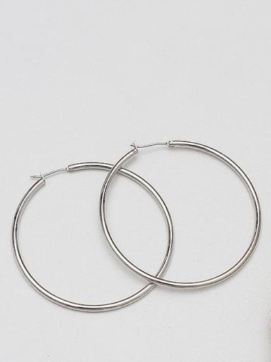 White K 5.0 Brass Geometric Minimalist Hoop Earring