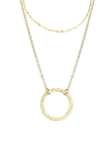 Stainless steel Round Minimalist Multi Strand Necklace