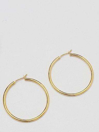 18K  gold 4 Brass Geometric Minimalist Hoop Earring