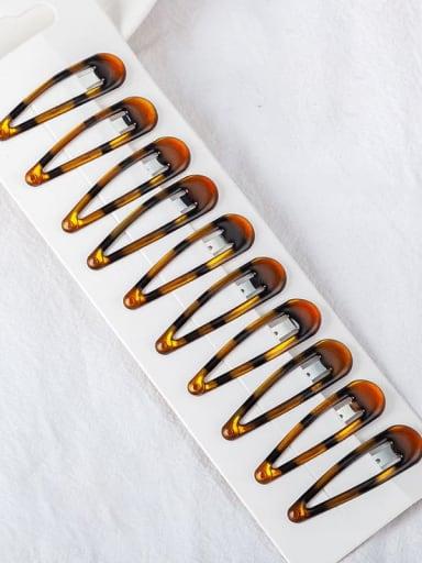 6.2 Alloy Multi Color Enamel Minimalist Water Drop  Hair Barrette
