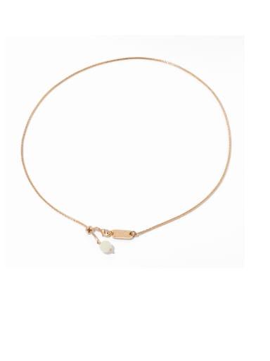 Brass Tassel Minimalist Lariat Necklace