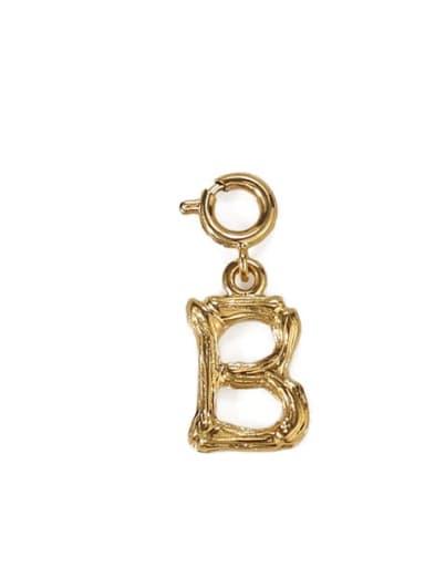B Brass Letter Vintage Pendant
