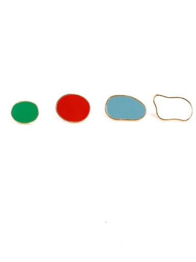 Alloy Enamel Geometric Cute Stud Earring