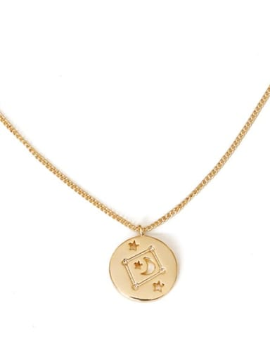 libra Brass Minimalist  Twelve constellations Pendant Necklace