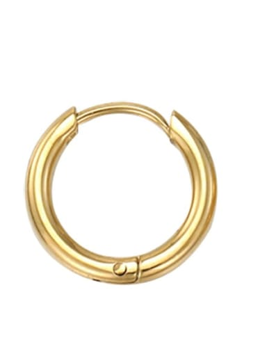 8mm gold Stainless steel Round Minimalist Hoop Earring