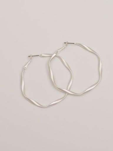 Dumb steel Brass Hollow Geometric Minimalist Hoop Earring