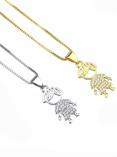Brass Cubic Zirconia Cute Necklace