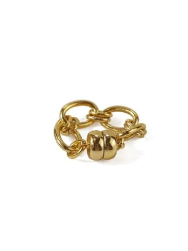 Gold (sold separately Brass Geometric chain Vintage Clip Earring(ONLY ONE PCS)
