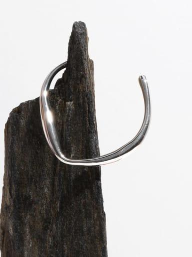 Brass Geometric Minimalist Cuff Bangle