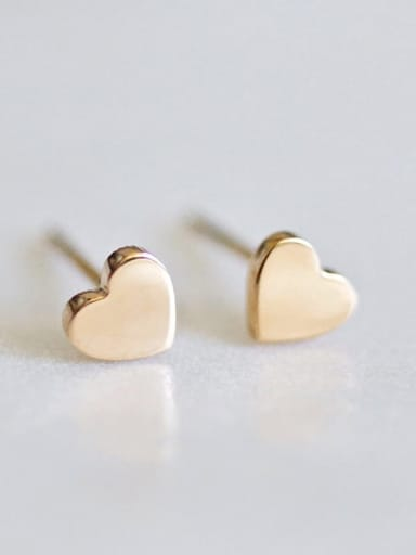 Stainless steel Heart Minimalist Stud Earring