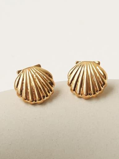 Brass Irregular Geometric Vintage Stud Earring