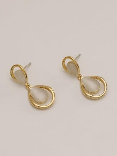 Brass Shell Water Drop Minimalist Drop Earring