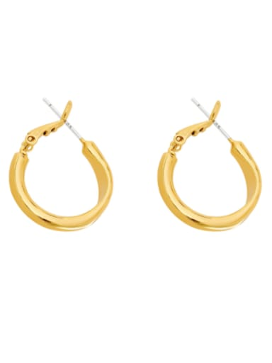 Brass Geometric Minimalist Hoop Earring
