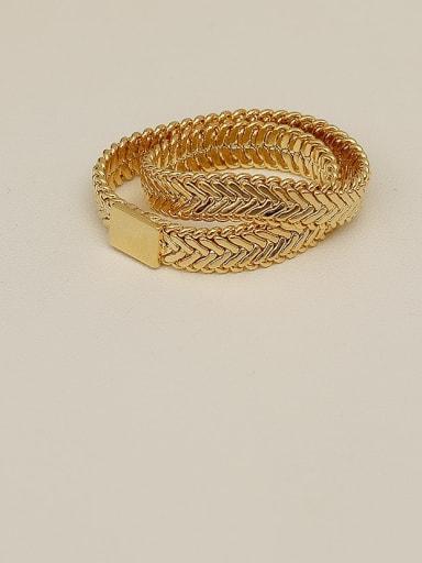 Copper Round Geometric Minimalist Band Ring