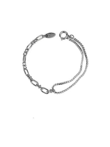 Brass Cubic Zirconia Geometric Vintage Strand Bracelet