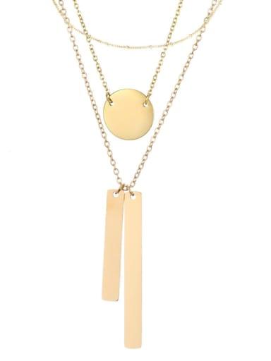 golden Stainless steel Geometric Minimalist Multi Strand Necklace