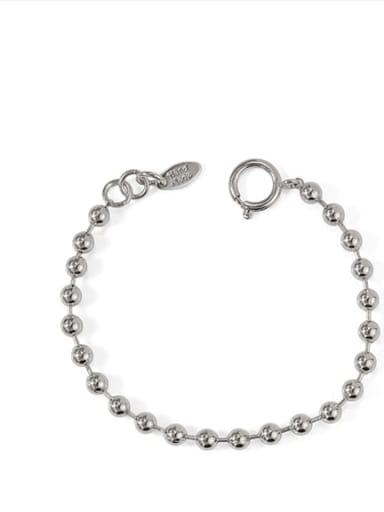platinum Brass Round bead Vintage Beaded Bracelet