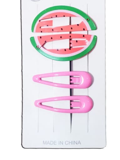 Big watermelon Alloy Multi Color Enamel Cute Water Drop  Hair Barrette