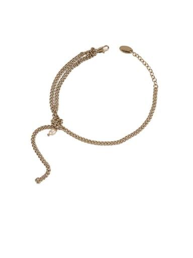 Brass Geometric Vintage Multilayer Link Bracelet