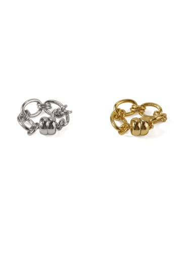 Brass Geometric chain Vintage Clip Earring(ONLY ONE PCS)