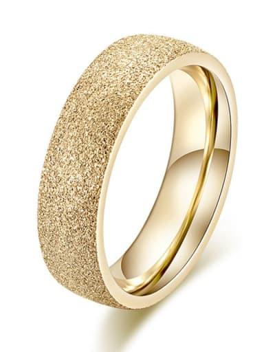 Gold 5mm wide Titanium  Round Geometric Minimalist Band Ring