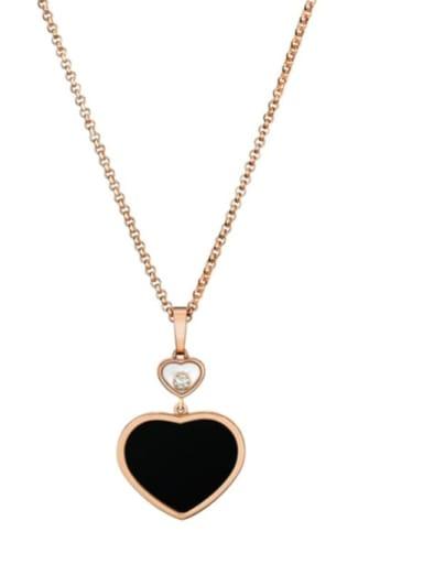 Brass Shell Heart Minimalist Necklace