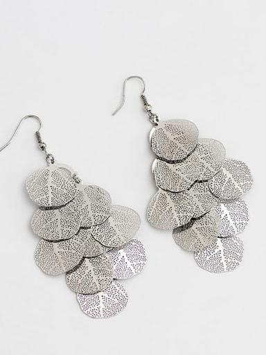 White K large Copper Tree Bohemia Hook Trend Korean Fashion Earring