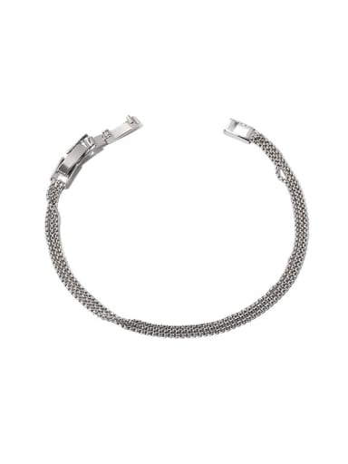 Brass Geometric Minimalist  Multi-layer thin chain  Bracelet